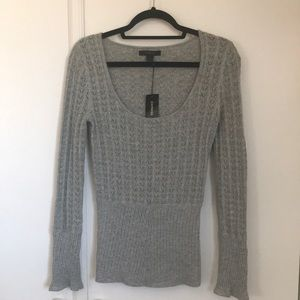 Express sweater grey with silver thread Size M NWT